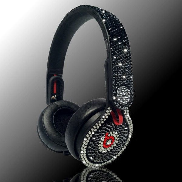 Customized Beats by Dre Headphones Celebrity Status We Use 100 Percect... ($600) ❤ liked on Polyvore