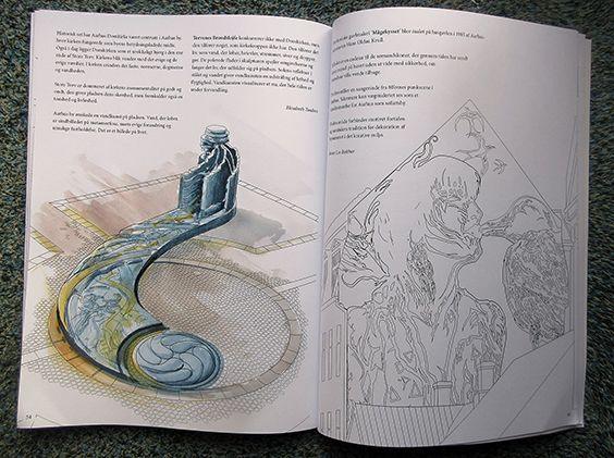 Torvenes broendsloejfe, tegning fra Mal Aarhus, farvelagt af Alek Krylow
