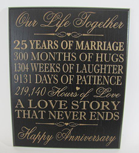 25th wedding anniversary presents for her