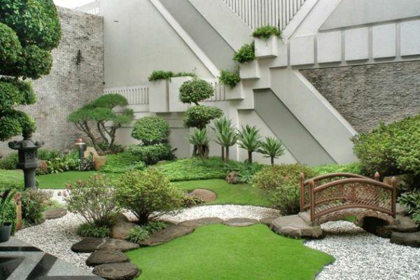 mini jardin japonais, espace contemporain
