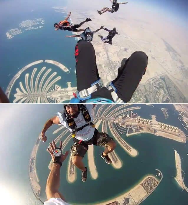 Watch: Skydive in Dubai - http://destinations-for-travelers.blogspot.com.br/2012/12/skydive- em-dubai.html #Skydive #Dubai