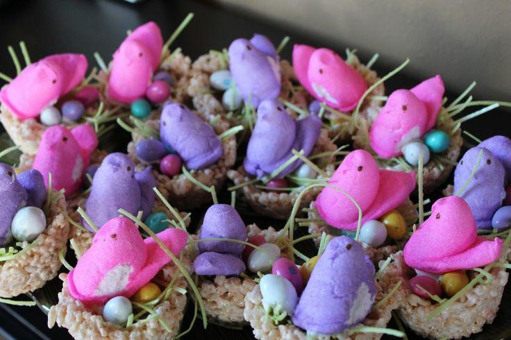 Easter+Treat+Recipes | ... .com/2011/03/marshmallow-peeps-crafts-bird-nest-rice-krispy-treats