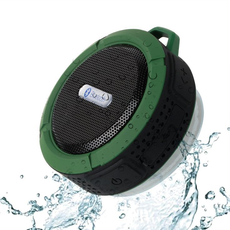 [Bluetooth Waterproof Speaker] PECHAM C6 Portable Waterproof Speaker, 5W Strong Drive Passive Radiator for Waterproof Shockproof and Dustproof Outdoor Shower MP3 PC Wireless Bluetooth Speaker with Emergency Power Surpply, Dedicated Suction Cup for Showers, Bathroom, Pool, Boat, Car, Beach, & Outdoor Use(Green + Black). .