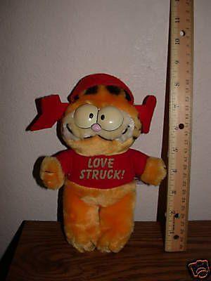 "Garfield Plush  8""Lovestruck ""Stick On-L@@K !FREE FAST SHIP!"