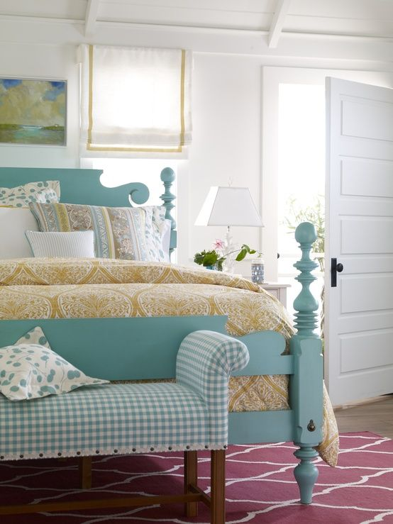 Pretty color for a bed