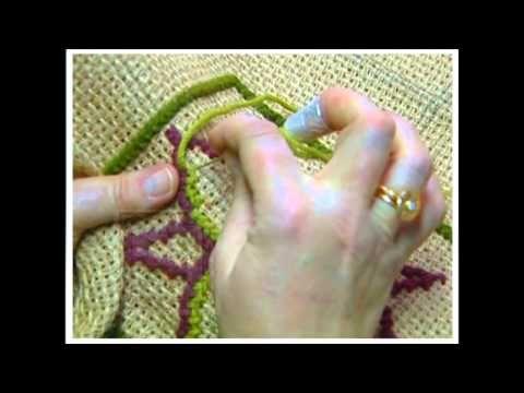 Passo a passo de tapete arraiolo com Anatália Leite - YouTube