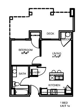The Lotus | 474 sq ft: $1075-$1175 | High Walk Score/ 12 min commute to GS | Granite in kit/bath, black appliances, pool/spa, 2 fitness rooms, rooftop lounge, controlled access, elevator, grocery store and park within 15min walk
