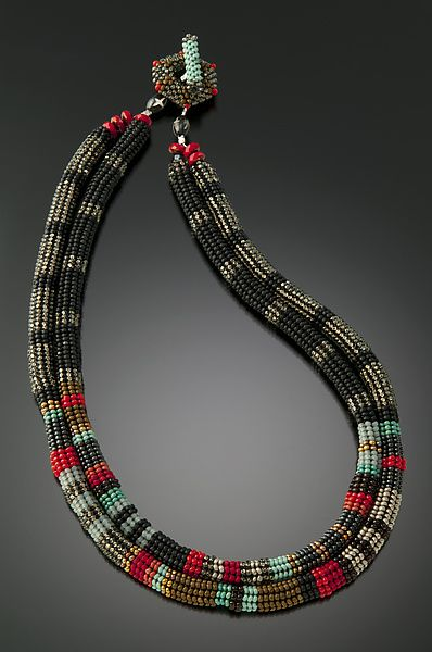Anasazi Necklace by Julie Powell: Beaded Necklace available at www.artfulhome.com $480.00
