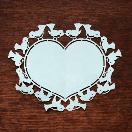 Free Printable Love Birds Template (Papercutting)