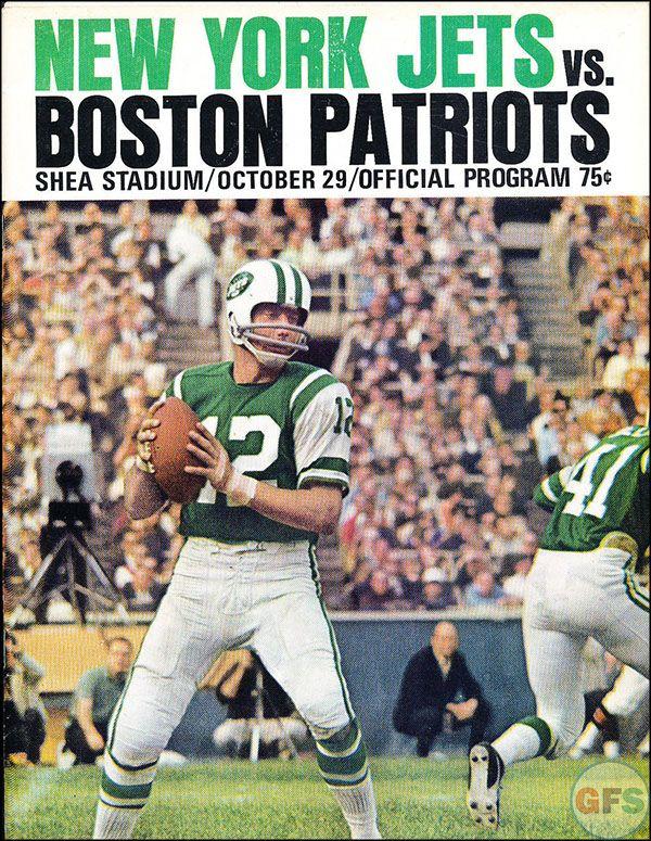 AFL Game Program: New York Jets vs. Boston Patriots (October 29, 1967)