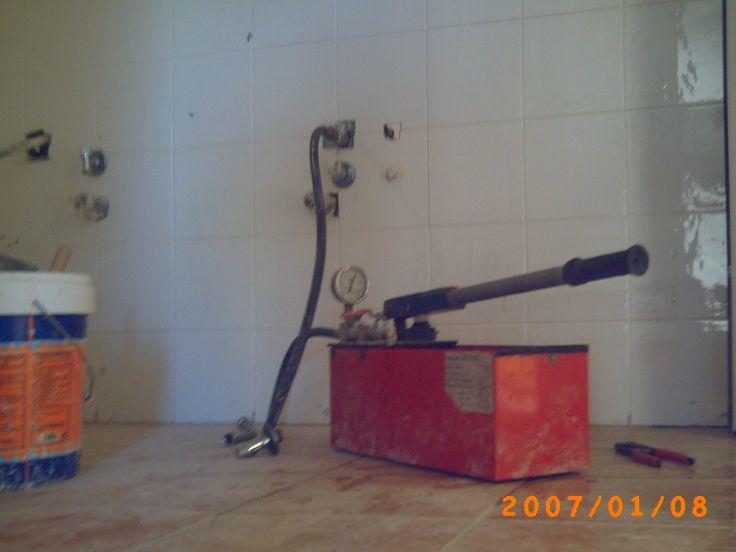 Prueba de estanqueidad de instalación de fontaneria. www.mglobal.es