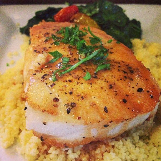 Home-made Sea Bass with seafood demi-glaze. | Seafood | Pinterest ...