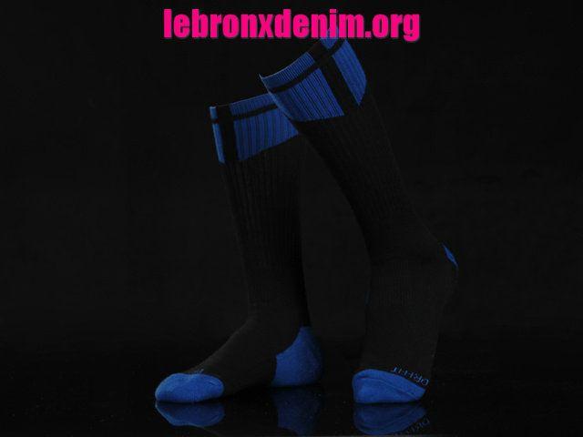 Black Game Royal Jordan AJ Dri-Fit Crew Sock Mens [Lebron X Denim 252]
