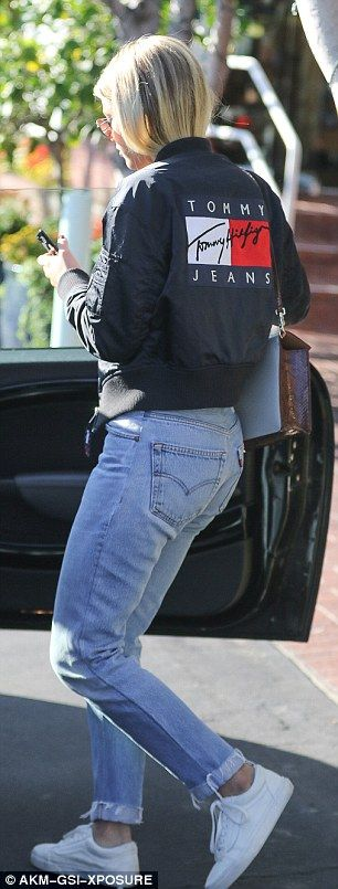Look the bomb with Sofia's Tommy Hilfiger jacket #DailyMail  Click 'Visit' to buy now