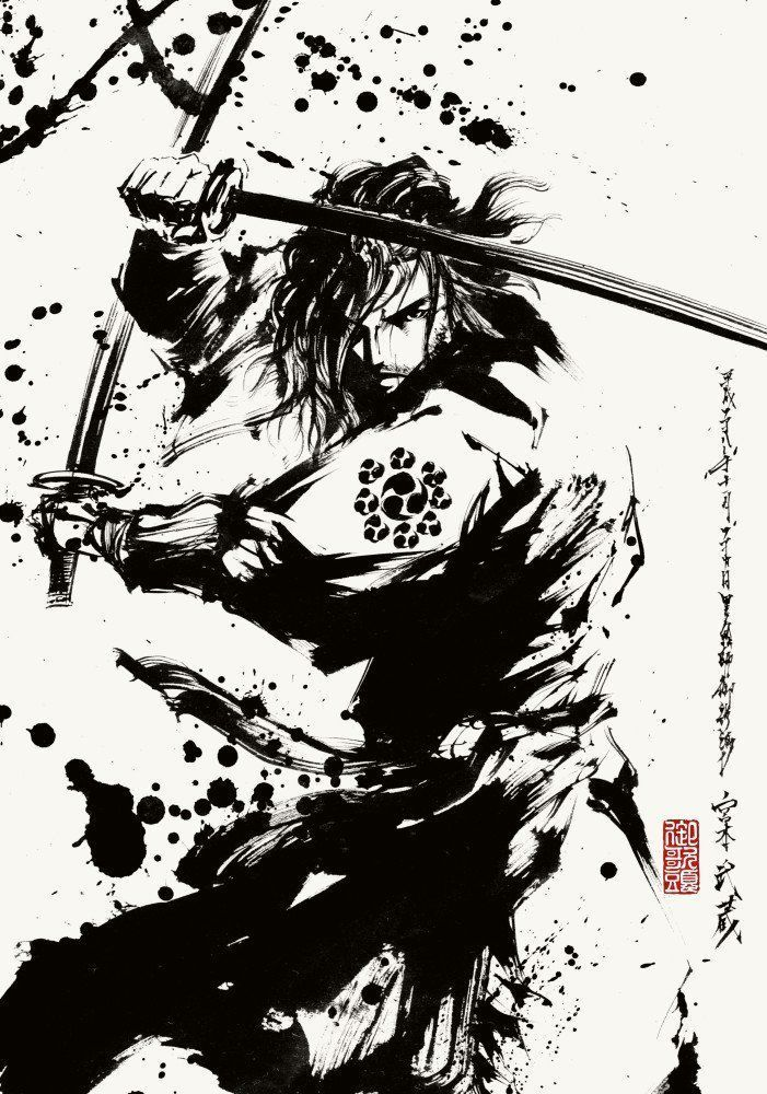 Pin de Juscelio Reis em tattoo Samurai desenho, Samurai