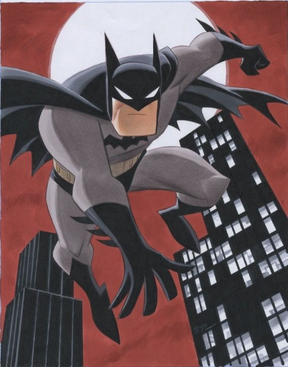Batman, in Ron Pittman's Bruce Timm Comic Art Gallery Room - 1240360