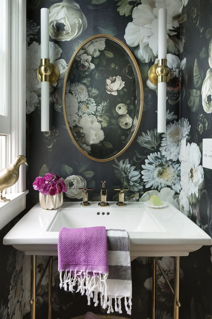 Black floral print wallpaper dark floral wallpaper by ellie cashman - Not For Shrinking Violets Where To Buy Big Beautiful Dramatic Floral Wallpapers