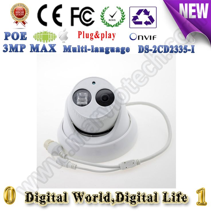 78.90$  Buy here - http://ali8tg.shopchina.info/go.php?t=32754228694 - vandalproof ds-2cd2335-i cctv ip camera poe 3mp 1080p h.265 lower bit rate security same as english version DS-2CD2342WD-I 78.90$ #bestbuy