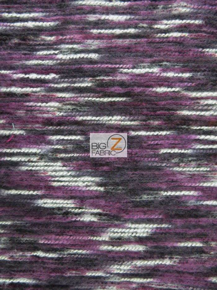 Mexican Indian Poncho State Wool Fabric Purple Black White