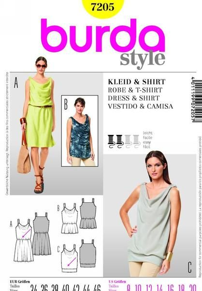 B7205 - Sewing- Patterns- NZ - dresses, childrens, babies, toddlers, simplicity, burda, new look, project runway