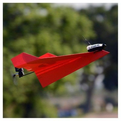 PowerUp 3.0 Paper Airplane Drone - Smartphone Controlled, Red