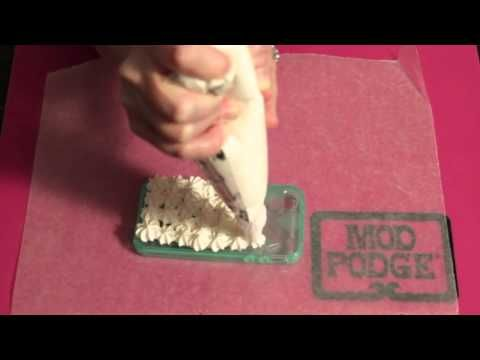 3 DIY Decoden Cell Phone Cases with Mod Podge + Dollar Store Jewelry - YouTube