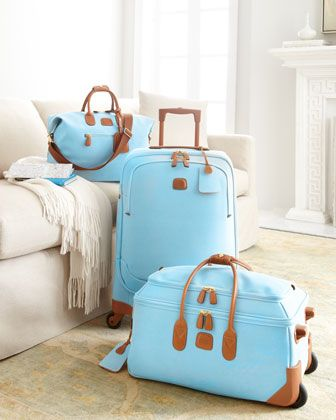 Brics Pastel Life Luggage Collection in my FAV color Tiffany Blue!! ...If I buy luggage, then I get to travel right??