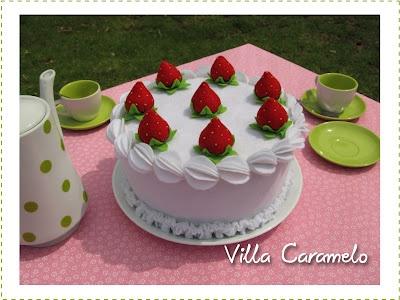 Torta de Crema y Frutillas