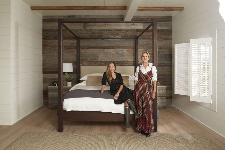 Designers Marsha and Nikki Glazer of GrayBarns on the Silvermine River.