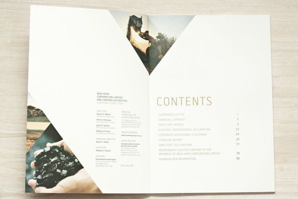NEW HOPE ANNUAL REPORT 2012 by Marty Portier, via Behance.