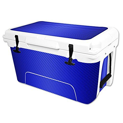 MightySkins Protective Vinyl Skin Decal Wrap for RTIC 45 qt Cooler cover sticker Blue Carbon Fiber *** Continue to the product at the image link.(This is an Amazon affiliate link and I receive a commission for the sales)