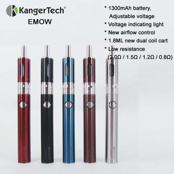 The value proposition is high for the EVOD starter kit: you get two batteries, two clearomizers, five extra coils, a USB charger, and an AC wall adapter all for around less than $100. Now, another Kanger option available to you is the latest and greatest Kanger EMOW starter kit now in stock at Electronics Cigarette Australia.