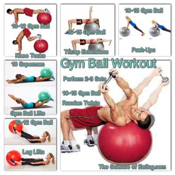 Workout Gym Ball Corestability Ball Exercises Gym Ball Exercise