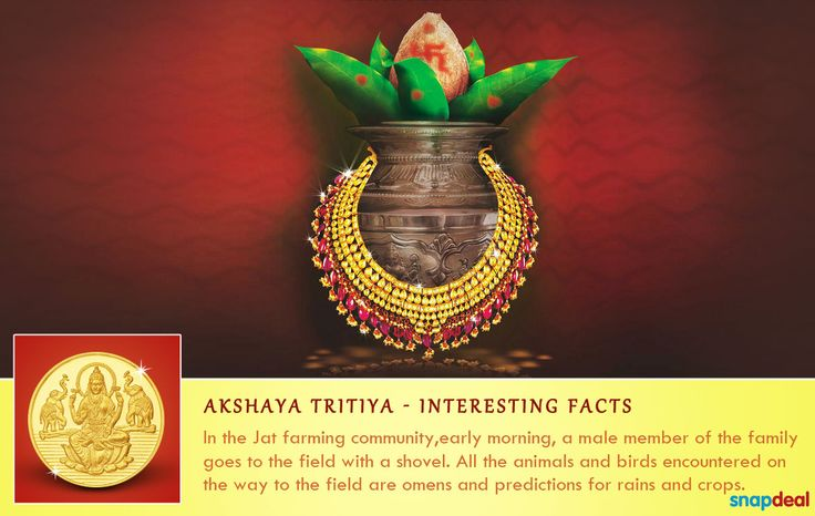 Akshaya Tritiya holds a special significance for the Jat farming community too! http://www.snapdeal.com/offers/Akshayatritya_special