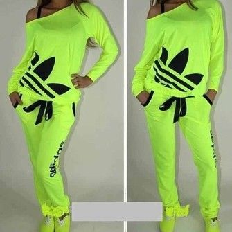 shirts that hang off the shoulders for women | yellow shirt adidas womens highlighter neon clothes off the shoulder ...