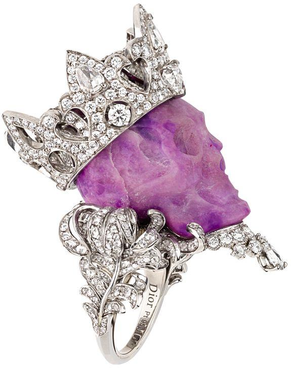 Christian Dior Diamond Skull Ring