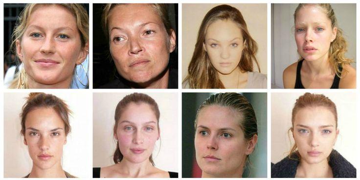 Not so natural beauties? 35 supermodellen mét en zonder make-up
