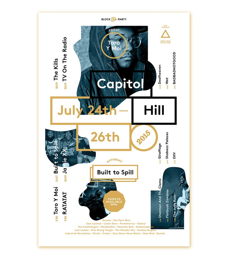 Hum worked with Capitol Hill Block Party to create a flexible branding suite for the famous Seattle music festival.