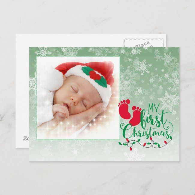 Baby S First Christmas Card Affiliate Affiliate Christmas Card Created Shop Babies First Christmas Christmas Cards Christmas Card Artwork