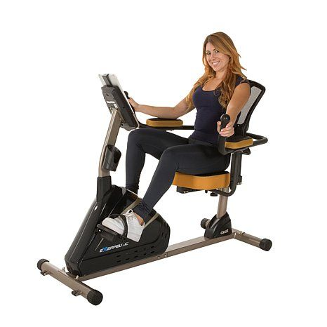 exerpeutic magnetic recumbent bike with bluetooth technology and mobile application tracking