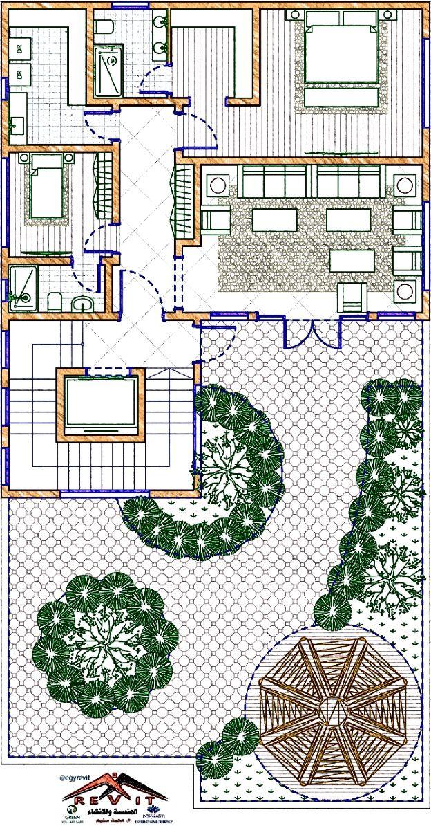 تصميم دور ملحق لفيلا جميل و مميز من اعمال ايجي ريفيت In 2021 Interior Architecture Drawing House Flooring Architecture Drawing