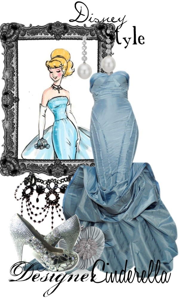 """Disney Style : Cinderella"" formal gown by missm26 on Polyvore"