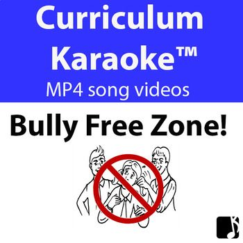 This curriculum-aligned song is a whole school, positive behaviours approach to dealing with unacceptable behaviours in primary schools. CURRICULUM KARAOKE™ • Not musical ~ NO worries! • Just download the MP4 song video and play on your classroom whiteboard or computer! • Students read / sing & learn along as the song plays and the lyrics display on the screen http://www.teacherspayteachers.com/Product/BULLY-FREE-ZONE-Curriculum-Karaoke-MP4-Song-lyrics-for-your-whiteboard-3209844