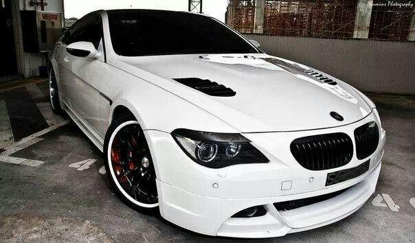 BMW E63 6 series white