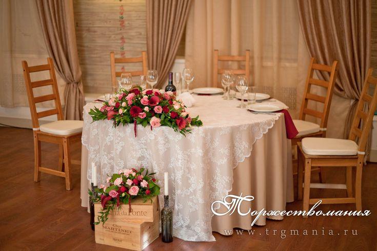 украшение зала в деревенском стиле red vine theme wedding head table decoration