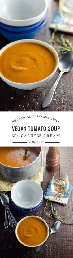 An easy vegan recipe for cashew cream, plus five ways to use it, including a delicious recipe for creamy vegan tomato soup.