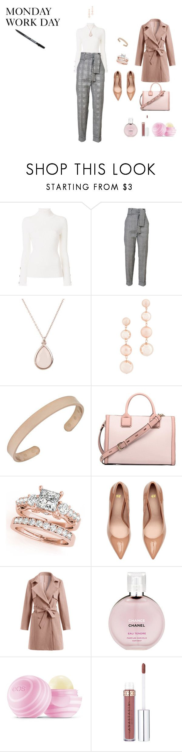 """""""MONDAY WORK OUTFIT 11/24/17"""" by rebeccadavisblogger on Polyvore featuring See by Chloé, Rebecca Minkoff, Chanel and Eos"""