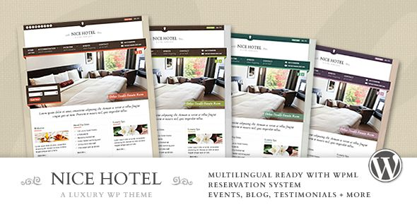 Nice Hotel - WordPress Theme - ThemeForest Item for Sale