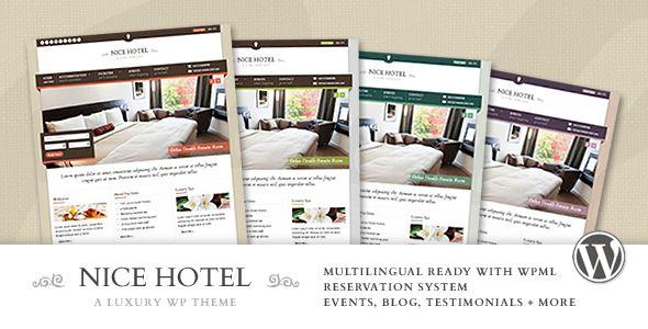 Nice Hotel - WordPress Theme - ThemeForest Item for Sale