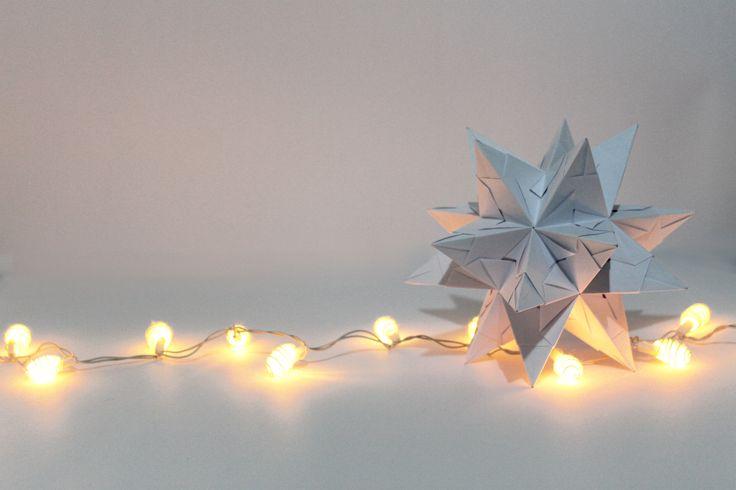 Optimus white, origami, bascetta star, paper mess project
